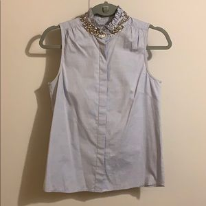 JCrew bejeweled button up tank